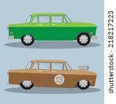 Vector Car And Hotrod. Eps 10