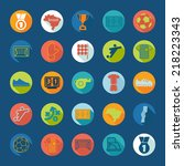football  soccer infographic | Shutterstock . vector #218223343