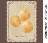 elegant vintage card with... | Shutterstock .eps vector #218234083