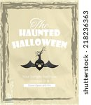 vector spooky and horror... | Shutterstock .eps vector #218236363