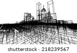 abstract vector cityscape sketch | Shutterstock .eps vector #218239567