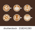 Set Of Latte Art White Cup