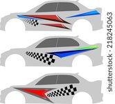 vehicle graphics  stripe  ...   Shutterstock . vector #218245063