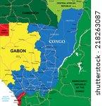 congo map | Shutterstock .eps vector #218263087