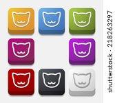 app concept  cat | Shutterstock . vector #218263297