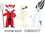monsters demon mummy bride | Shutterstock .eps vector #218323177