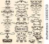 vector set of calligraphic... | Shutterstock .eps vector #218333713