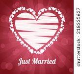 wedding label design  vector... | Shutterstock .eps vector #218335627
