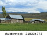 Old Pioneer Cabin And Ranch In...