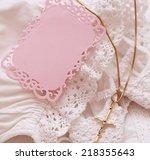 white dress with golden cross... | Shutterstock . vector #218355643