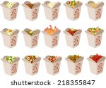 vector illustration of chinese... | Shutterstock .eps vector #218355847