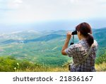 hiker take a picture on a nature | Shutterstock . vector #21836167
