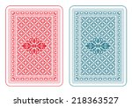playing cards back two colors   ... | Shutterstock .eps vector #218363527