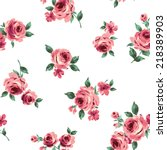 pattern of rose  | Shutterstock .eps vector #218389903
