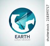 abstract earth logo design made ...   Shutterstock . vector #218395717