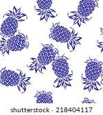 pattern of pineapple | Shutterstock .eps vector #218404117