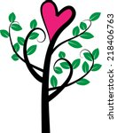 vector tree and love | Shutterstock .eps vector #218406763
