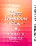 valentine triangle background.... | Shutterstock .eps vector #218410117