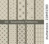 set of ten seamless patterns | Shutterstock .eps vector #218451583