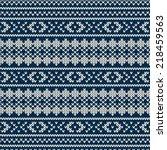 winter seamless knitted pattern | Shutterstock .eps vector #218459563