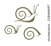 snail. isolated icons on white...   Shutterstock .eps vector #218468497