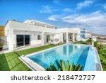 relax near swimming pool    Shutterstock . vector #218472727