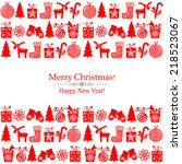 red christmas background with... | Shutterstock .eps vector #218523067