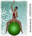 sexy xmas girl   Shutterstock . vector #218531953