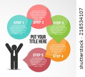step by step to success... | Shutterstock .eps vector #218534107