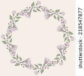 vector floral greeting card... | Shutterstock .eps vector #218547877