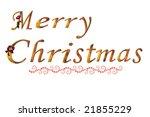 merry christmas on white | Shutterstock . vector #21855229