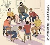 hand drawn illustration of... | Shutterstock .eps vector #218556697