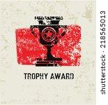 trophy award grunge symbol...
