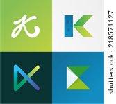 vector illustration letter k set