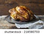 roast chicken | Shutterstock . vector #218580703