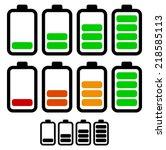 illustration of battery level...