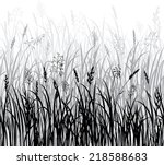 Silhouettes Of Grass  Hand...