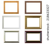 photo frame set isolated on... | Shutterstock . vector #218623327