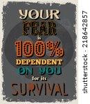retro vintage motivational... | Shutterstock . vector #218642857