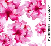 floral pattern. vector seamless ... | Shutterstock .eps vector #218652007