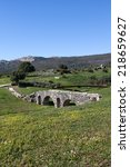 Small photo of Baleo Claudia - roman ruins in Bolonia, Andalusia, southern Spain