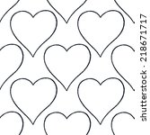 seamless pattern with outline... | Shutterstock .eps vector #218671717