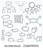 hand drawn doodle sketch mind... | Shutterstock .eps vector #218699053