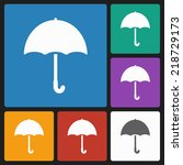 umbrella icon | Shutterstock .eps vector #218729173