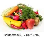 fresh vegetables | Shutterstock . vector #218743783