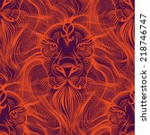 Repaint Seamless Pattern  Lion