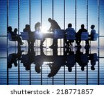 silhouettes of business people... | Shutterstock . vector #218771857