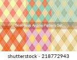 seamless argyle pattern.... | Shutterstock .eps vector #218772943