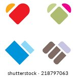 simple heart illustration  ... | Shutterstock .eps vector #218797063