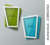 abstract vector banners set  | Shutterstock .eps vector #218802463
